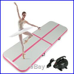 10-16FT Inflatable Airtrack Gymnastics Tumbling Mat Training Gym Home with Pump