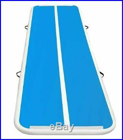 118 Air Track Blue-White Inflatable Gymnastic Tumbling Exercise Mat AirTrack