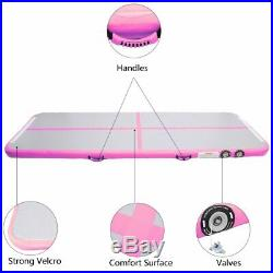 13ft3.3ft Inflatable Air Track Floor Home Gymnastics Tumbling Mat GYM +Pump EN