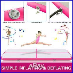 16FT Airtrack Inflatable Air Track Floor Home Gymnastics Tumbling Mat + Pump