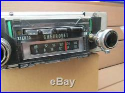 1970 Chevrolet AM FM Stereo 8 Track Radio Camaro Chevelle Impala Nova WORKS NICE