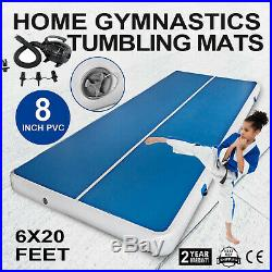 20 FT 8Thick Air Track Tumbling Inflatable Mat Gymnastic Yoga Training Fitness