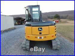 2012 John Deere 60D Mini Rubber Track Excavator Cab Heat Air Thumb 2 Speed Nice