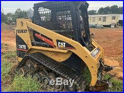 2013 Caterpillar 247b Cab Heat Air Track Skid Steer Loader Cat 247