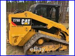 2014 Caterpillar 279d Cab Heat Air Track Skid Steer Loader Cat 279