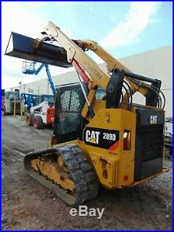2016 Cat 289d 2 Speed Wide Track Air Conditioned Air Ride Heated Seat