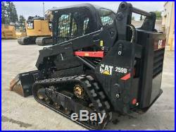 2016 Caterpillar 259d Cab Heat Air Track Skid Steer Loader Cat 259