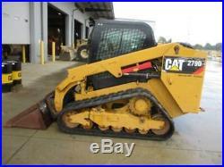 2017 Caterpillar 279d Cab Heat Air Track Skid Steer Loader Cat 279