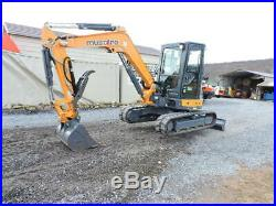 2017 Mustang 450Z NXT2 Mini Rubber Track Excavator Cab Heat Air Thumb 2 Speed