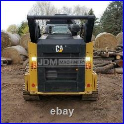 2018 Caterpillar 299d2 Xhp Cab Heat Air Track Skid Steer Loader Cat 299