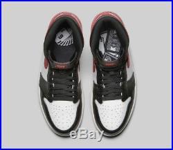 2018 Nike Air Jordan 1 Retro High OG 6 Rings Track Red Size 11.5 555088-112 Bred