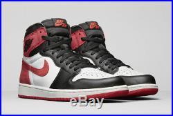 2018 Nike Air Jordan 1 Retro High OG 6 Rings Track Red Size 12. 555088-112 Bred