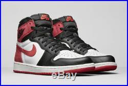 2018 Nike Air Jordan 1 Retro High OG 6 Rings Track Red Size 13. 555088-112 Bred