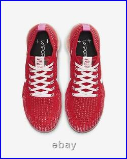 2020 WMNS Nike Air Vapormax Flyknit 3 Sz6.5 W Track Red Pink White CU4756-600