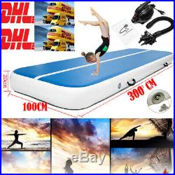 20CM Thick Inflatable Gym Mat Air Track Rolling Sport Gymnastics Mat+Air pump UK