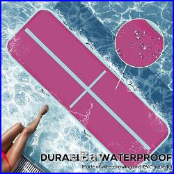 20ft Airtrack Air Track Floor Inflatable Gymnastics Tumbling Mat GYM +Pump PINK