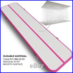 26Ft Air Track Floor Tumbling Pad Inflatable Gym Mat Gymnastic Portable Yoga Mat