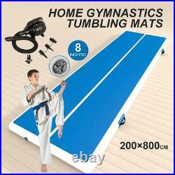 26Ft Inflatable Air Track Gymnastics Tumbling Mat Airtrack Floor GYM Yoga withPump