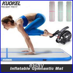 4M Inflatable Gymnastics Mat Air Track Aerobics Exercise Tumbling +Electric Pump