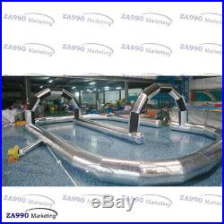 66x33ft Commercial Inflatable Race Track Go Kart / Zorb Ball With Air Blower