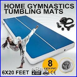 6X20Ft Inflatable Air Track Floor Home Gymnastics Tumbling Yoga Mat Airtrack GYM