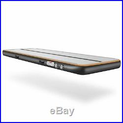 8Inflatable Gym Airtrack Air Track Tumbling Floor Home Gymnastics GYM 20FT BLACK