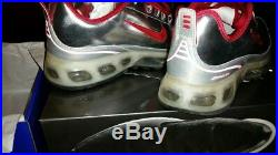 Air Max 360 Powerwall HOA Night Track size 9 New 314202 061 Chrome Red
