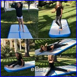 Air Track Airtrack Inflatable Floor Home Gymnastics Tumbling Mat GYM Blue US