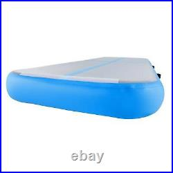 Air Track Exercise Mat 20ft for Home Outdoor Gymnastics Yoga More Blue&Gray dsu