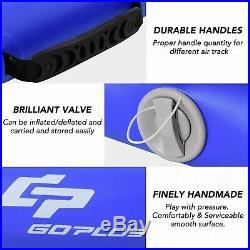 Air Track Inflatable Gymnastics Tumbling Floor Gym Mat Pump Blue Gray PVC 118x40