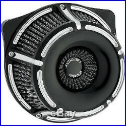 Arlen Ness Inverted Slot Track Black Cut Stage 1 Air Cleaner Harley FLH/T 08-16