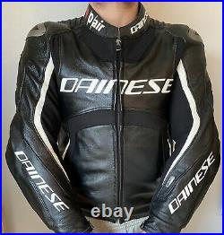 DAINESE Misano D-Air Sports Race Track Smart Airbag Leather Jacket EUR 50 UK 40