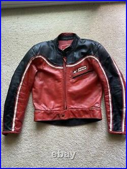 Dainese Vintage Leather Jacket 52 Italy Racing Tuono D Air Super Speed 8 Track