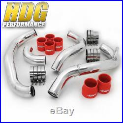 Fits 240SX 180SX 1984-1994 Bar Plate Intercooler Piping Kit Red Couplers S13