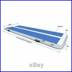 Inflatable Gymnastics Air Track Tumbling Mat with Pump Blue 27ftx6.6ftx8inch