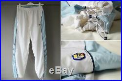 Men's Nike Tuned Air Tn + Vintage Track Windbreaker Jogger Pants Size M White