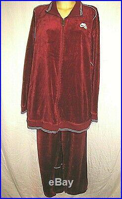 Mens Vintage Size XXL Nike Velour Track Suit Nike Air Set Jacket & Pants