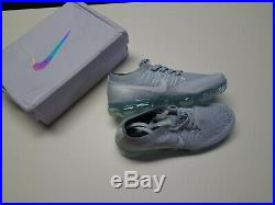 NEW Nike Womens Air Vapormax Flyknit gray wolf Size 7 running track