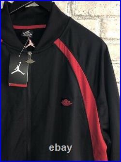 NWT Retro NIKE AIR JORDAN Wings Black Red Warm Up Track Jacket Big Mens 3XL