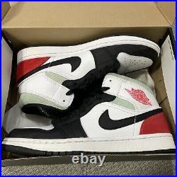 Nike AIR JORDAN 1 MID UNION Black Toe Size 9 852542-100 White/Track Red