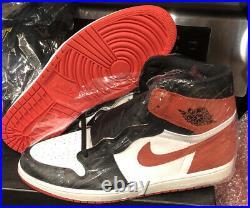 Nike Air Jordan 1 High OG Track Red Sz 15 Chicago 555088-112 Black Toe Shadow i