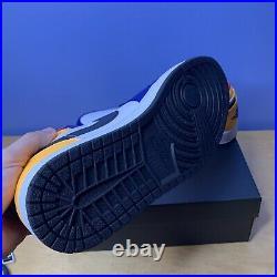 Nike Air Jordan 1 Low White/Track Red/Deep Royal 553558-123 Men's Size 10.5