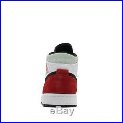 Nike Air Jordan 1 Mid SE Track Red Black Toe White Union-Style Men 852542-100