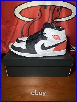 Nike Air Jordan 1 Mid SE Union Black Toe Track Red White Sz 9.5 (852542-100) DS