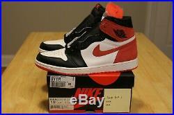 Nike Air Jordan 1 Retro High OG Track Red 555088-112 Size 10.5 DS New White RARE