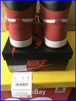 Nike Air Jordan 1 Retro High Track Red 555088-112 Size 11 In Hand