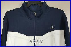 Nike Air Jordan Basketball Track Suit Jacket + Pants Navy Blue White (size 2xl)