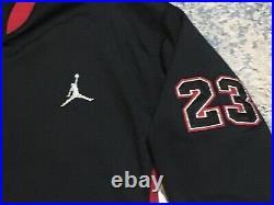 Nike Air Jordan Jumpman Warmup Track Jacket L Black Red White 23 Name Plate