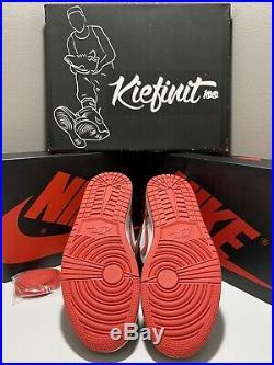 Nike Air Jordan Retro 1 High Og Track Red Men Size Black Sz White 555088