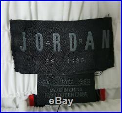 Nike Air Jordan Retro 3 Track Suit Jacket + Pants White Red Black New (size 3xl)
